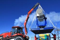 Le Gru Fassi montano un telescopio al Polo Sud