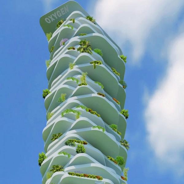 Made in italy l 39 edificio sostenibile premiato al mipim - Altezza alberi giardino privato condominio ...