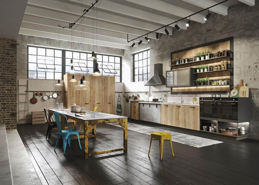 Cucine snaidero nasce loft ispirata al mood urbano - Cucine per loft ...