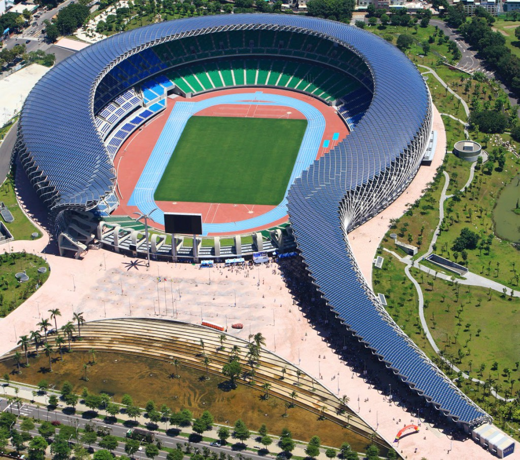 Il Dragon Stadium di Kaohsiung a Taiwan
