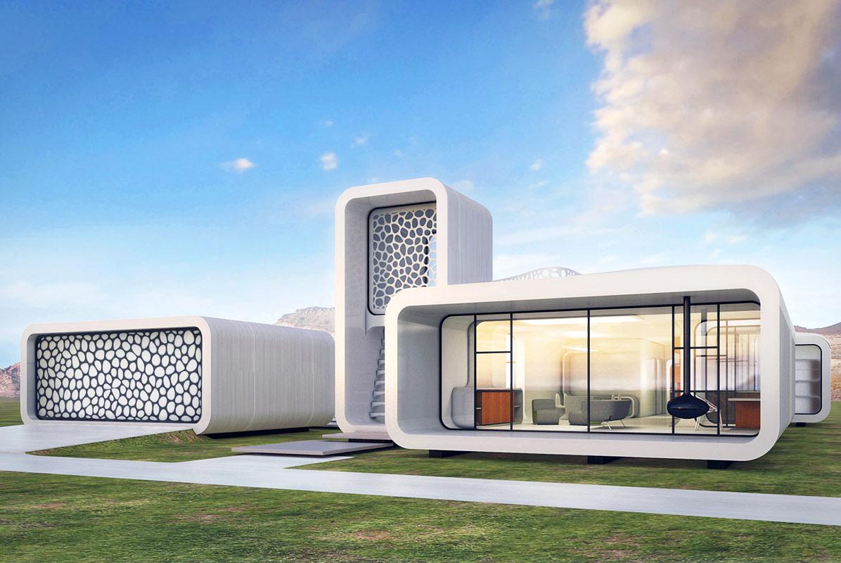 Il rendering del primo ufficio costituito in 3D da realizzare a Dubai