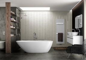 Design asimmetrico per la vasca Mozzano by Victoria + Albert