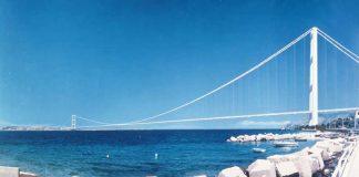 Un rendering del Ponte sullo Stretto