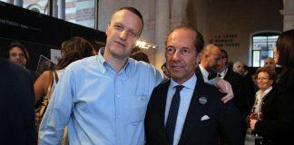 Ettore Riello (a destra) con il sindaco di Verona, Flavio Tosi