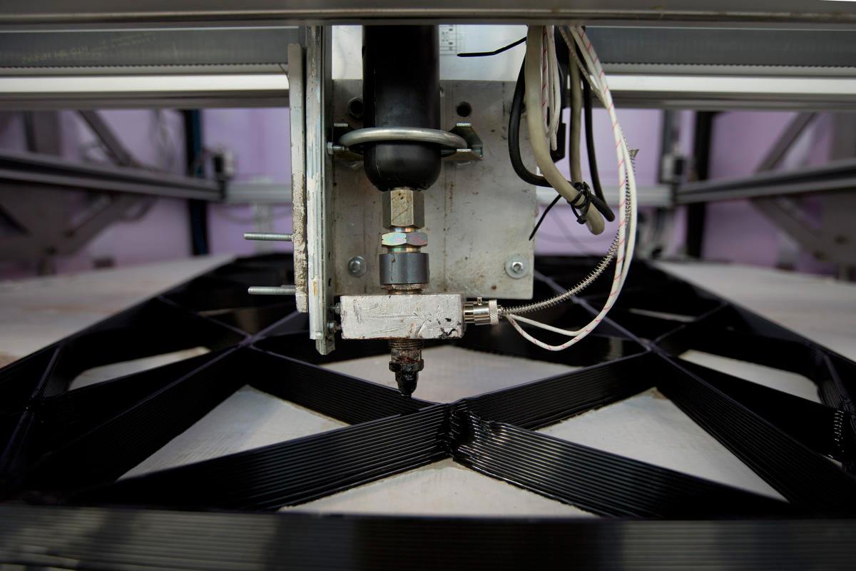 La stampante in azione