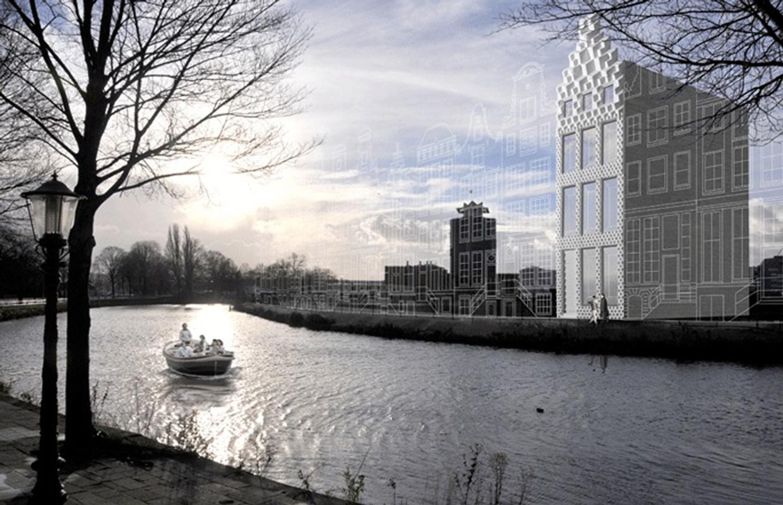 La casa sul canale ad Amsterdam progettata dallo studio Dus Architecture