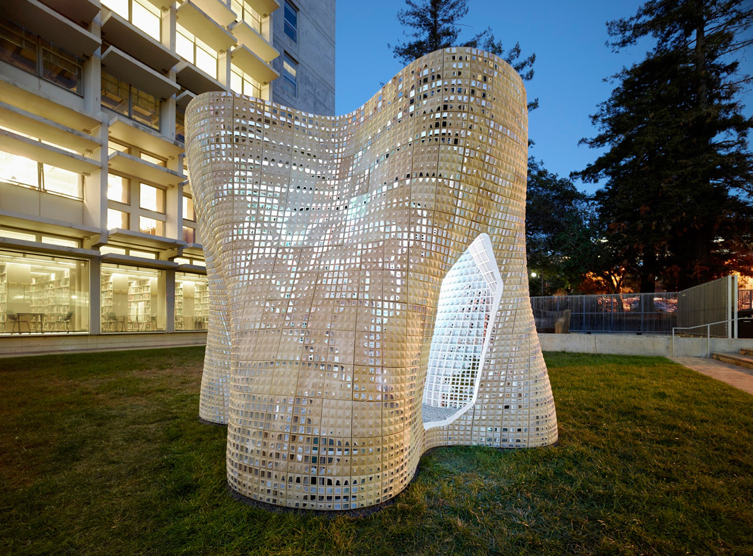 Il padiglione Bloom realizzato all'Università di Berkley