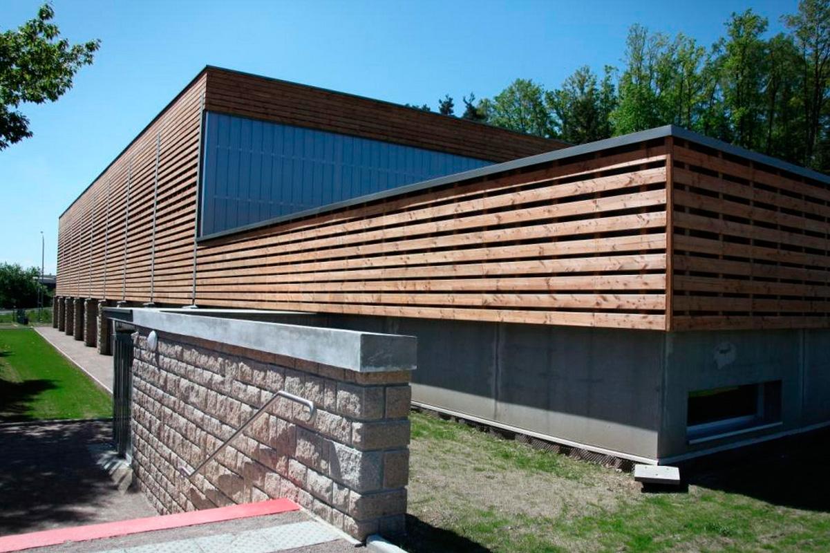 Una facciata ventilata in legno