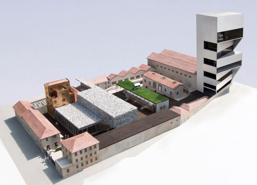 Il plastico del Museo Prada