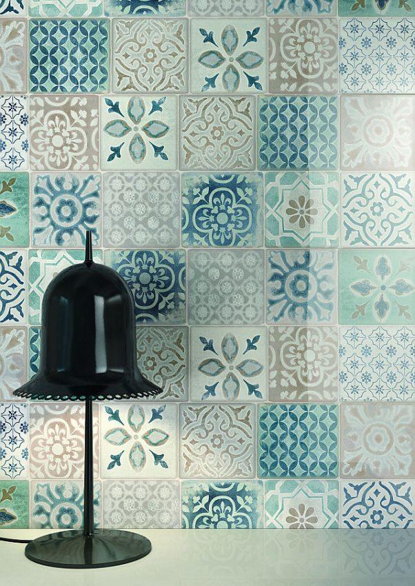 Frame di ragno maiolica artigianale per il bagno residenziale - Piastrelle ragno frame ...