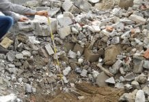 Terre e macerie in cantiere