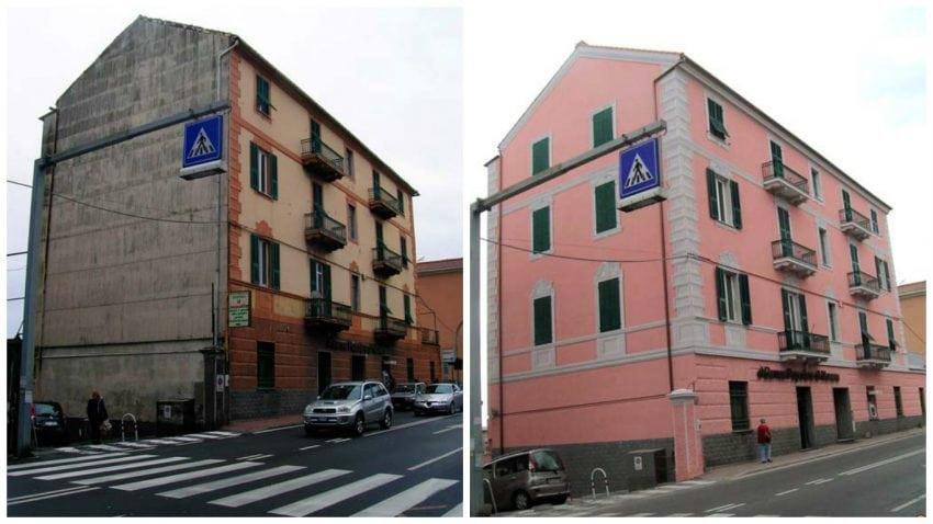 Finest facciata cieca prima e dopo i lavori with case - Lavori in casa prima del rogito ...