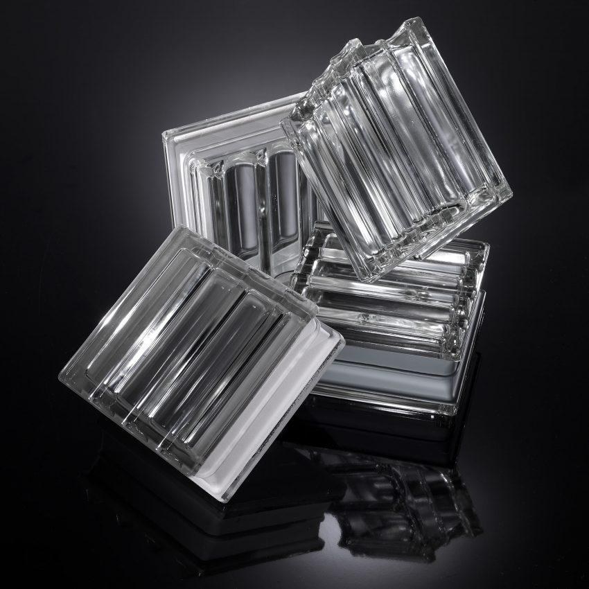 Mattone in vetro tridimensionale - Doric di Seves