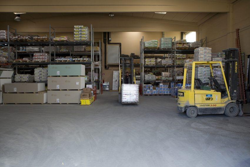 Edilcomes, magazzino