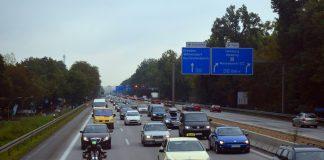 Traffico su un'autostrada in Sassonia