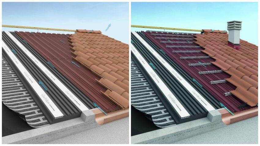 tetto onduline per una copertura a falda ad elevate