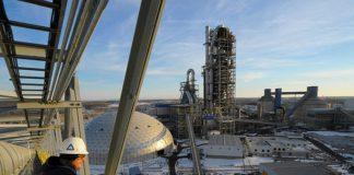 La a fabbrica di cemento a Martinsburg di Italcementi