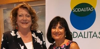 Adriana Spazzoli (a destra) con Diana Bracco