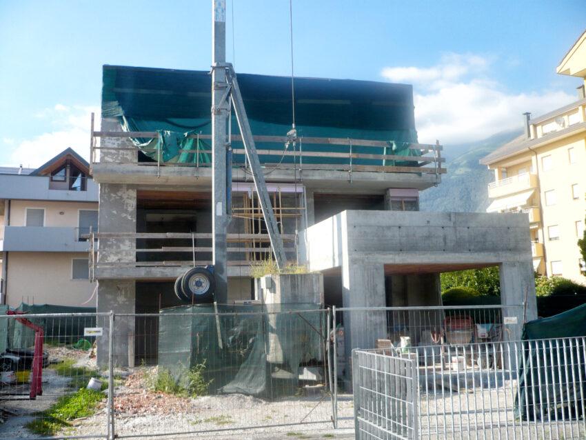Edificio durante la ristrutturazione