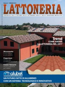 Lattoneria, copertina del numero di gennaio 2017