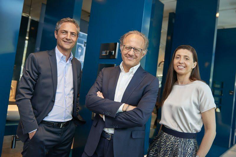 Da sinistra: Fabio Sabbadini, Giorgio Castiglioni e Ana Cruz
