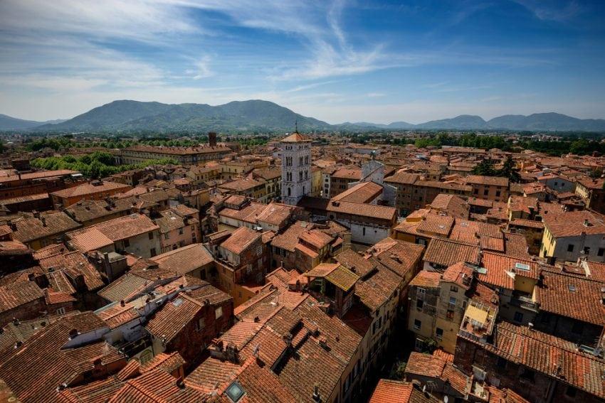 Lucca, dall'alto