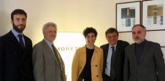 Da sinistra, Enrico Prata (Consigliere Delegato Saef); Evans Zampatti (ad di Moretti); Valentina Moretti (vicepresidente di Morett), Gualtiero Carraro (ad di Carraro Lab); Fabrizio Grillo (Effegi Systems)