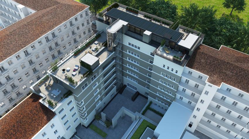 Palazzo Novecento, rendering