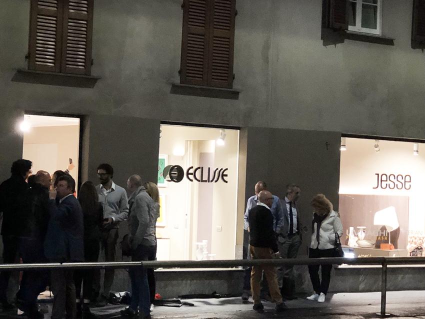 L'inaugurazione dello showroom di Eclisse a Milano