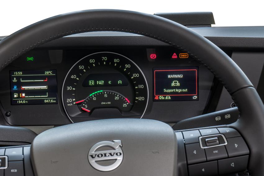 Fassi FX-Link Le informazioni compaiono sul cruscotto del camion Volvo