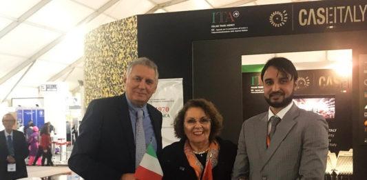 Azzedine Nekmouche, presidente dell'Ordine Nazionale degli Architetti del Marocco; Laura Michelini, Presidente di Caseitaly; Sami Ben Jelloul, Trade Analyst di Ice Casablanca