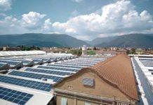 Lo stabilimento Baxi, con l'impianto dei pannelli fotovoltaici
