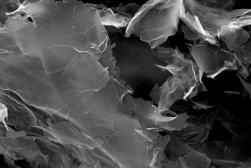 Un ingrandimento del grafene al microscopio