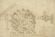 Una pagina del Codice Atlantico
