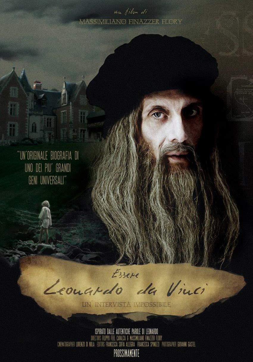 La locandina del film su Leonardo