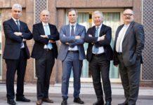 La nuova squadra di Anima: Alberto Montanini (vicepresidente), Pietro Almici (Vicepresidente), Marco Nocivelli (presidente), Roberto Saccone (vicepresidente) e Bruno Fierro (vicepresidente)