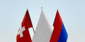 Le bandiere della Svizzera e del Canton Ticino