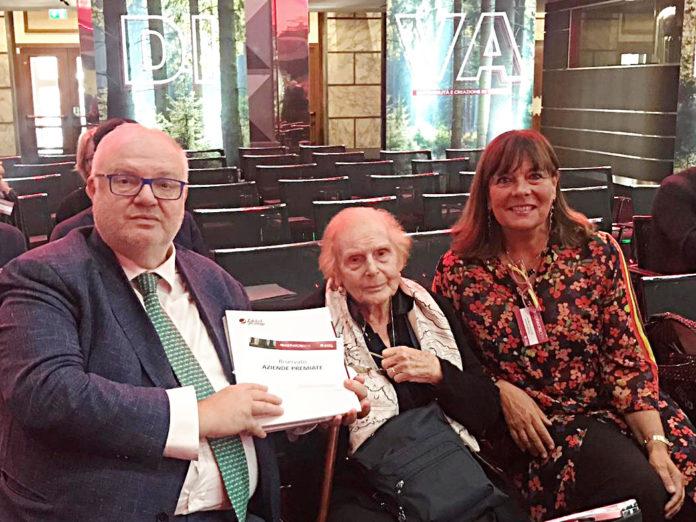 Da sinistra, Federico Geremia, Presidente San Marco Group, Alessandrina Tamburini, Presidente onorario San Marco Group, e Antonella Geremia