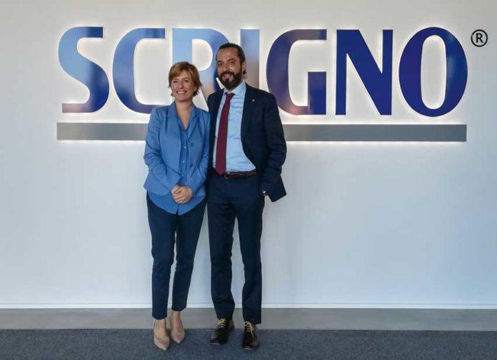 Maddalena Marchesini, amministratore delegato di Scrigno, con Luigi Geron, presidente dell'azienda