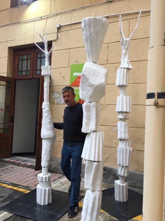 Marcello Cinque e gli alberi-colonna