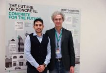 Giangavino Muresu con Roberto Berardi, Innovative Products and Solutions Manager Italcementi