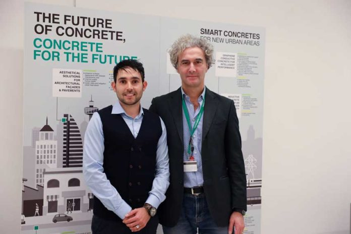 Giangavino Muresu con Roberto Berardi, Innovative Products and Solutions Manager Italcementi