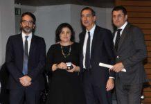 Il sindaco di Milano, Beppe Sala consegna l'Ambrogino d'Oro alla memoria di Giorgio Squinzi