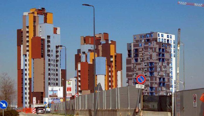 Edifici a Cascina Merlata (Milano) realizzati da Mangiavacchi Pedercini
