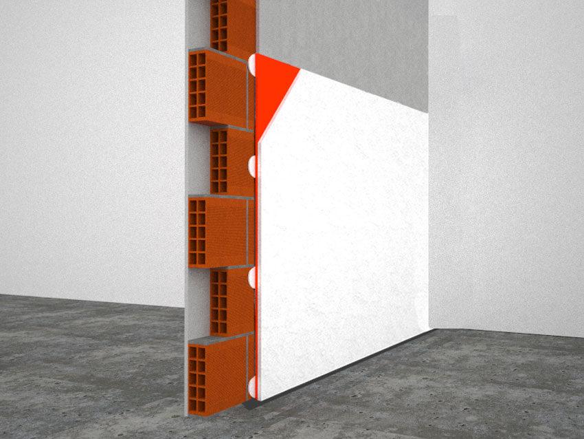 Isolgypsum Special, parete divisoria struttura con placcaggio