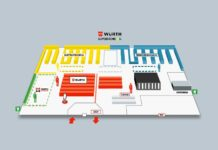 La mappa del Super Store Würth