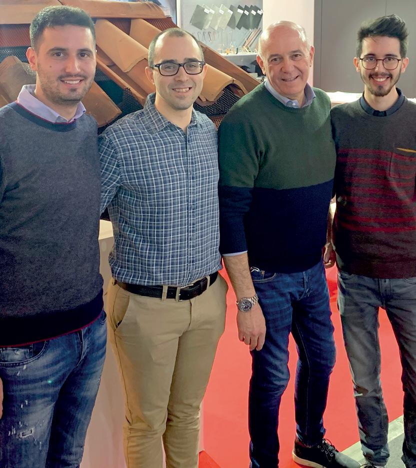 Da sinistra, Nicola Piva, Stefano Donadini, Gildo Piva, Alessandro Piva