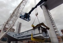 La costruzione del nuovi viadotto sul Polcevera