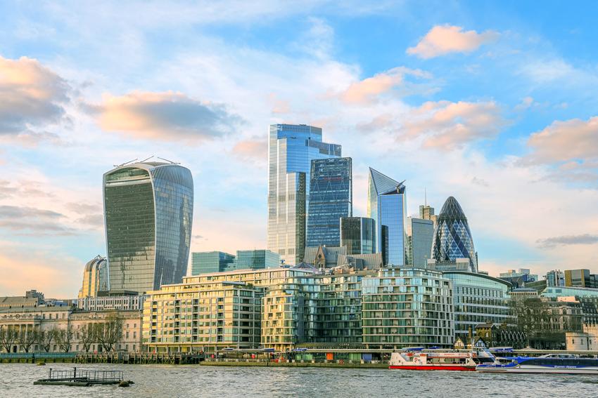Lo skyline della city a Londra